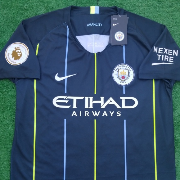 pretty nice 970ee f733f 2018/19 Manchester City away soccer jersey NWT